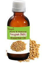 Fenugreek (Methi) Pure Natural Essential Oil- 50ml Trigonella foenumgraecum - $14.36