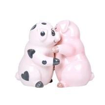 Hugging Pigs Magnetic Ceramic Salt and Pepper Shakers Set - £10.04 GBP