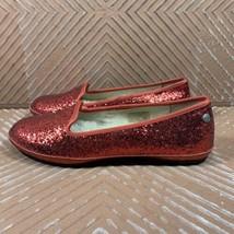 UGG AUSTRALIA Red Glitter Flats Shoes 1003225 Womens Size 6.5 US 37.5 EU - $27.83