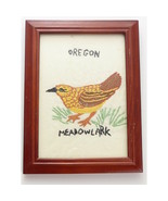 Vintage Embroidered State Bird Meadowlark Oregon - $24.00