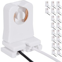 Non-Shunted Turn-Type T8 Lamp Holder JACKYLED 18-Pack UL Socket Tombston... - $23.52