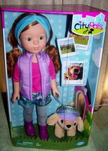 """Cititoys City Pals DENVER Dylan 14.5"""" Doll & her Golden Retriever Dolly New - $34.50"""