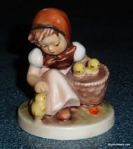 Chick Girl Goebel Hummel Figurine #57/0 TMK3 - Cute Little Girl With Peeps! - $66.92
