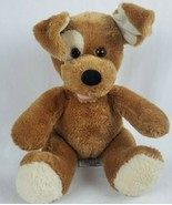 "Build a Bear Dog 13"" Plush Brown White Light Eye Spot Stuffed Animal BAB - $18.39"