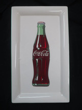 Coca-Cola Ceramic Contour Bottle Platter  Cream- BRAND NEW - $32.67
