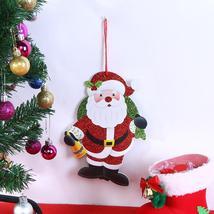 (01)Merry Christmas Shaped Hanging Letters Snowman Santa Claus Pendant C... - $14.00
