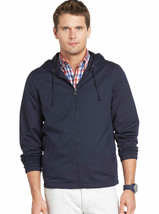 NEW Mens IZOD Navy Blue Hooded Lightweight Full-Zip Jacket Size M or L M... - $35.00