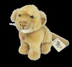 "9"" STEIFF LÖWE LEO # 066740 TAN BABY STUFFED ANIMAL PLUSH TOY W/ TAGS GE... - $92.57"