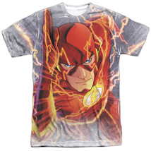 JLA Justice League of America The Flash Barrys Back Sublimation Front T-... - $26.99+