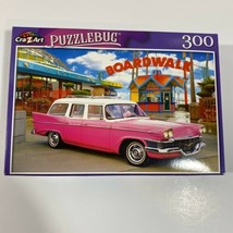 1958 Pink Studebaker by the boardwalk NEW 300 Piece Puzzle CrayZArt Puzz... - $12.64