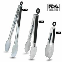 BBQ Grilling Tong Salad Serving Food Tong Stainless Steel Kitchen Tongs ... - $6.78+