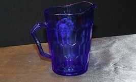 1930's Hazel-Atlas Shirley Temple Cobalt Blue Glass Pitcher AA20-2085 Vintage image 7