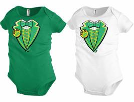 Kiss me Im Irish kid Funny Tuxedo tee Baby Infant Bodysuit St Patrick da... - $12.99