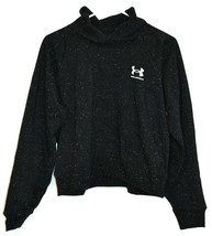 Under Armour Women's UA Black & White Rival Fleece Wrap Neck Sweatshirt Size S image 1