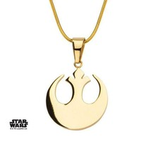 Disney Star Wars Stainless Steel Rebel Alliance Small Pendant with Chain - $32.20