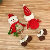 Ornaments Gift Santa Claus Snowman Reindeer Toy Doll Hang Decorations Merry - $2.03
