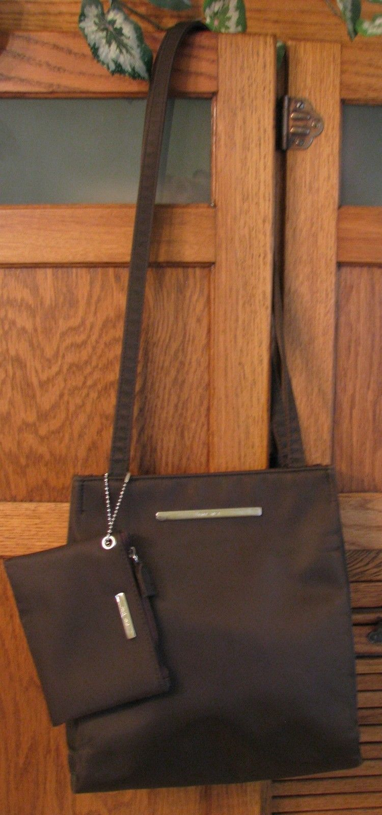 Primary image for Nine West PURSE Brown Shoulder Bag w Change Holder Satchel Handbag