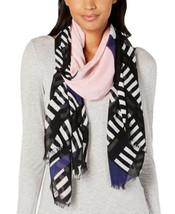 Calvin Klein Geo Colorblocked Scarf (Black) - $29.58