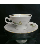 WAWEL ROSE BOUQUET China Floral Espresso Mini Cup & Saucer Made in Poland - $28.05