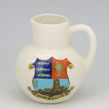 Miniature Arcadian China Stoke on Trent City Crest Upwell Souviner Pitcher Vase