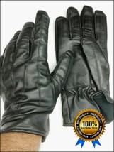 Guanti uomo pelle neri taglia 9,5 = L invernali fodera lana invernali el... - $27.22