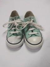 Converse All Star Low Chucks Toddler Seafoam Green Canvas Girls Shoes Si... - £16.06 GBP