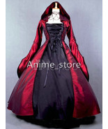 cos1470 Salem Witch Costume Victorian Poplin Long Sleeves Witch Dress Co... - €140,70 EUR