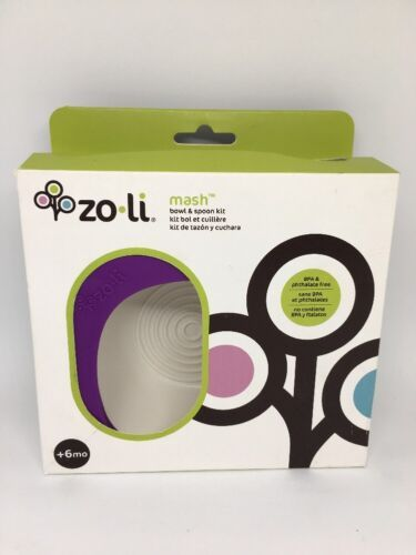 ZoLi MASH Bowl & Spoon Kit, Purple - A-BF14MSR001 Kids baby bowl containers image 2