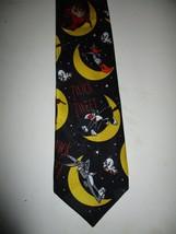 "Vintage 1995 Looney Tunes Mania Halloween Necktie Tie 3.75"" Tweety Daffy 310 - $14.77"