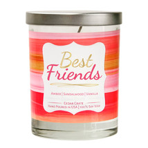 Best Friends | Vanilla Sandalwood Soy Wax Candle | Amber | Sandalwood | Vanilla