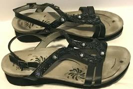 Abeo Cheri BIO Adjustable Strap Slide Sandals Women's 8 N Neutral - Black - $47.47