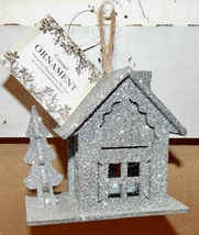 Cottage Ornaments You Choose Color Use As Embellishments Glitter Houses ... - $2.39
