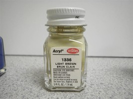 TESTORS MODEL PAINT- 1336 LIGHT BROWN- 1/4 FL.OZ- NEW - L209 - $4.36