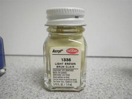Testors Model PAINT- 1336 Light BROWN- 1/4 FL.OZ- New - L209 - $4.36