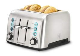 Toastmaster TM-43TS 4 Slice Toaster, Stainless Steel - $64.25