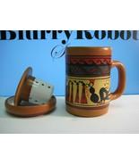 Cusco Peru Earthenware Tea Brewer / Mug / Teapot Set - $16.38