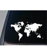 """Global World Map Atlas Vinyl Art Decal Sticker 7"""" x 12"""" *D744* - $12.19"""