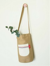 Romane Baguette Tote Bag Cotton Canvas Eco reusable Daily Shopper Bag (Beige) image 2