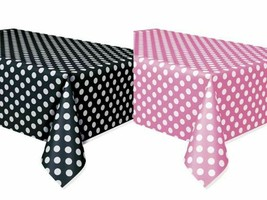 2 Mickey Minnie Polka Dot Table Covers Black/ Pink Birthday Decor Party Supplies - $7.69