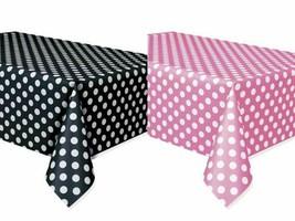2 Mickey Minnie Polka Dot Table Covers Black/ Pink Birthday Decor Party ... - $7.69