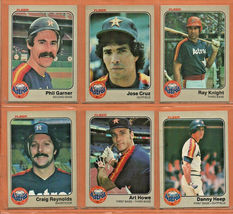 1983 Fleer Houston Astros Team Set Lot 21 Jose Cruz Art Howe Ray Knight  - $2.99