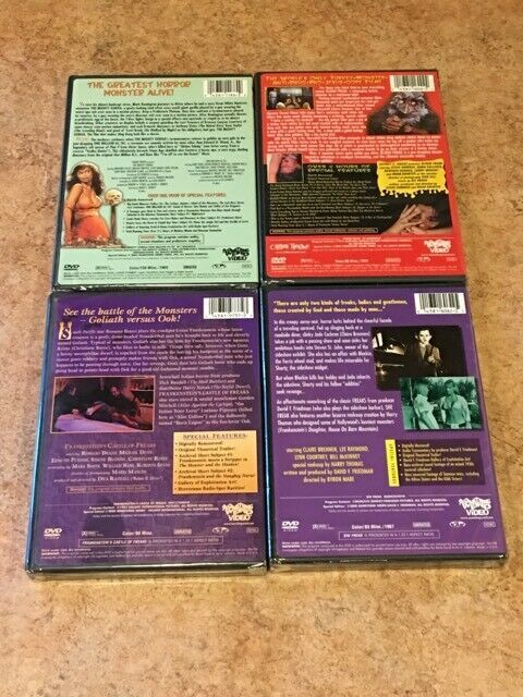 5 NEW Something Weird Films! 5 DVD Lot: Mighty Gorga, Blood Freak, Castle, She F image 2