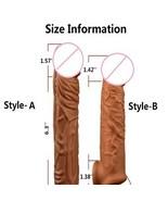 NEW Penis Enlargement enhancer Condoms Male Delay Condom Sleeve Penis En... - $29.50+