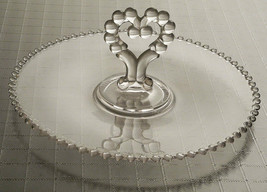 Imperial Glass Candlewick Candy Pastry Appetizers Dish with Heart Handle - $12.82