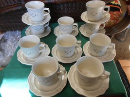 Great Pfaltzgraff Heirloom.. Set Of 10 Cups & Saucers - $33.25