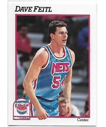 1991-92 Hoops #399 Dave Feitl NM-MT RC Rookie NJ Nets - $0.99