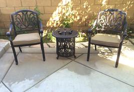 Bistro Patio Set 3 Piece Conversation Cast Aluminum Outdoor Furniture Elisabeth image 1