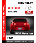 CHEVROLET 2013 2014 2015 MALIBU SEDAN SERVICE REPAIR OEM FACTORY WORKSHO... - $14.95
