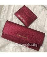 MICHAEL KORS GIFTABLE GLITTER FLAT WALLET SLIM PURSE & CREDIT CARD CASE ... - $28.99