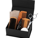 Bread Oil Balm Beard Shaping Mustache Growing Moisturizing Comb Brush Scissors G